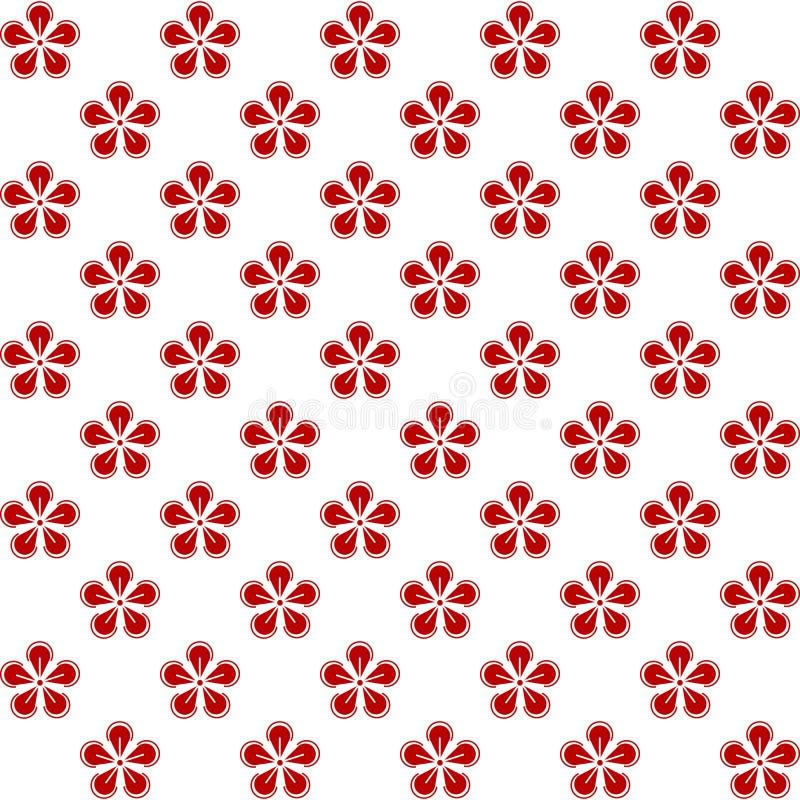 Elementos japoneses chinos de la decoración de los estampados de flores del coreano tradicional asiático oriental, página en líne libre illustration