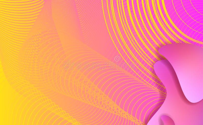 Elementos líquidos, formas plásticas da cor misturada ou bolhas orgânicas ilustração stock