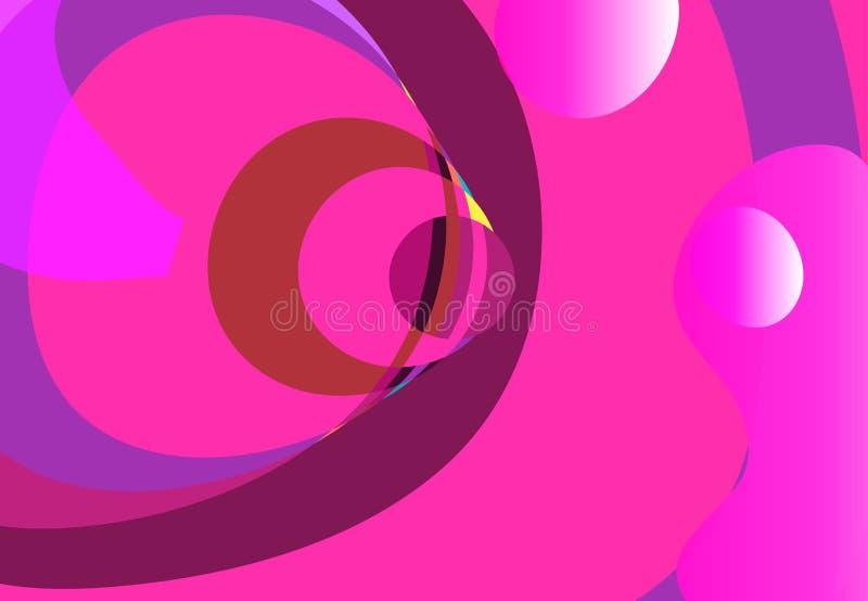Elementos líquidos, formas plásticas del color mezclado o burbujas orgánicas stock de ilustración