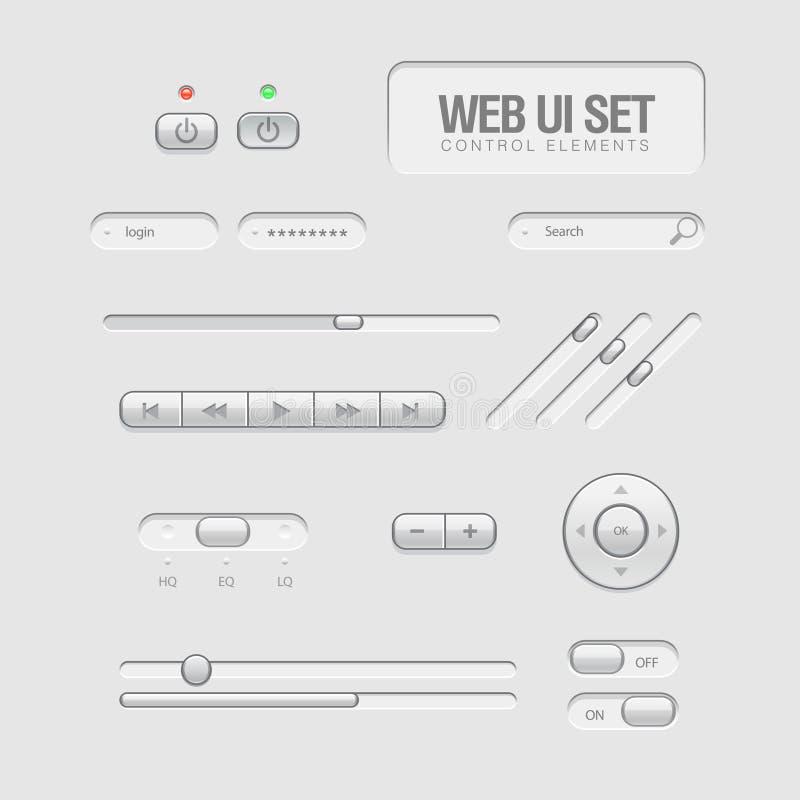 Elementos ligeros del Web UI ilustración del vector