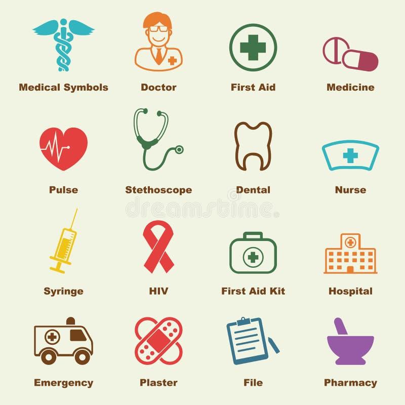 Elementos médicos ilustração stock