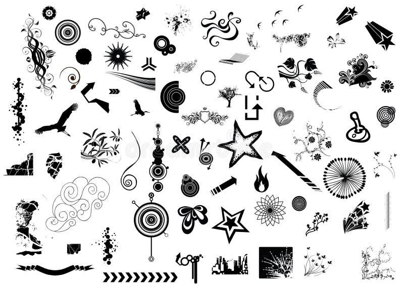 Elementos mega do projeto ilustração stock