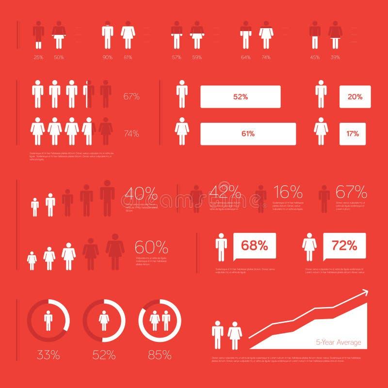 Elementos modernos de Infographic libre illustration