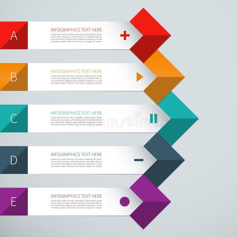 Elementos modernos del infographics de la flecha stock de ilustración