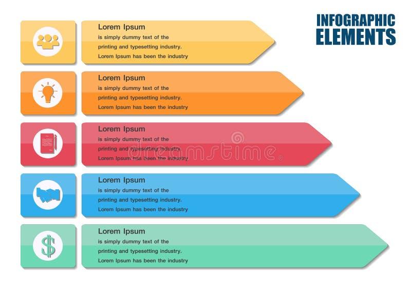 Elementos modernos del infographics de la flecha ilustración del vector