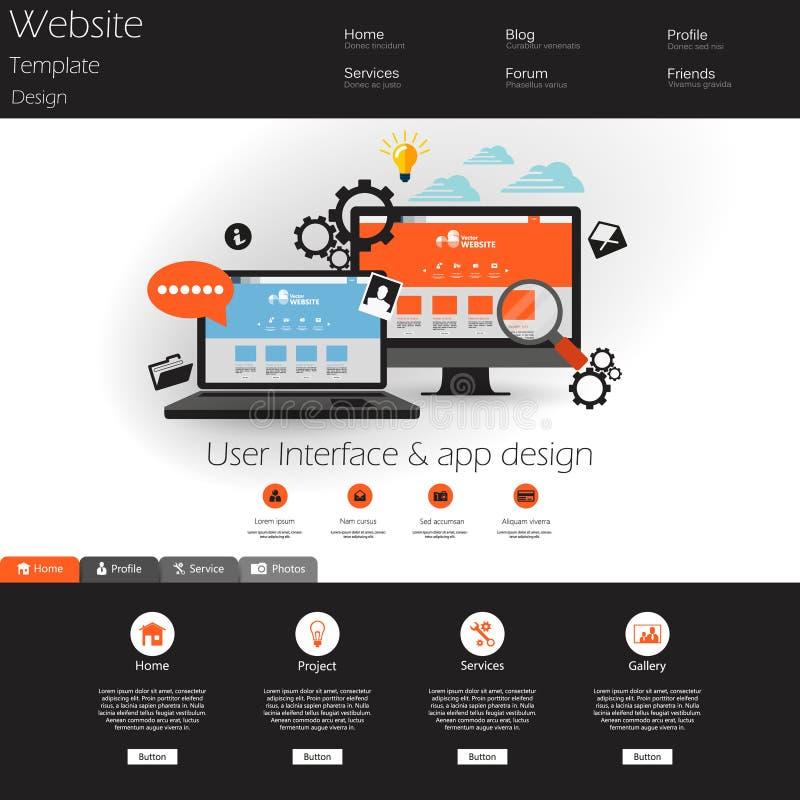 Elementos Modernos Planos Del Diseño Web Ilustración del Vector ...
