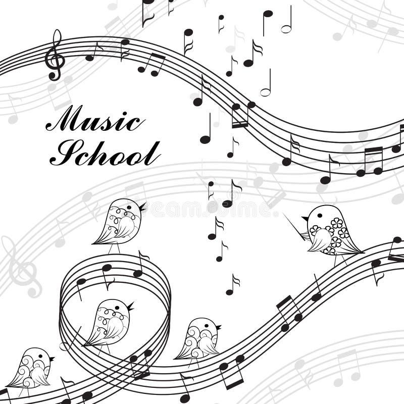 Elementos musicais do projeto ilustração do vetor