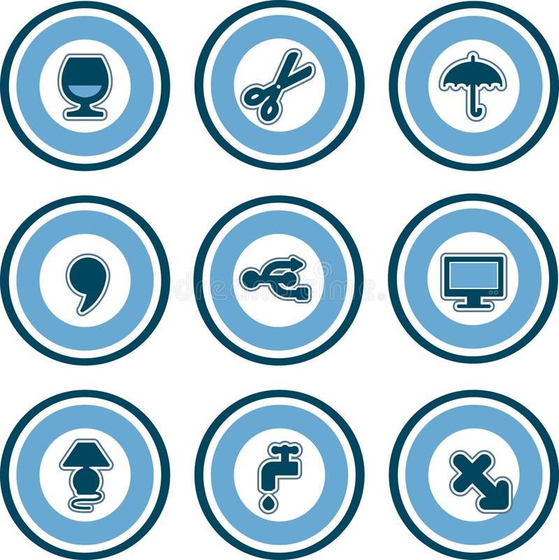 Elementos P. 13d do projeto ilustração stock
