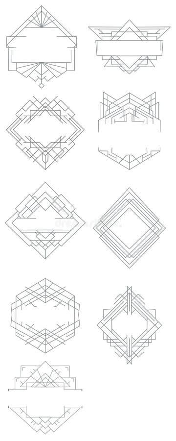 Elementos para a decoração do logotipo foto de stock