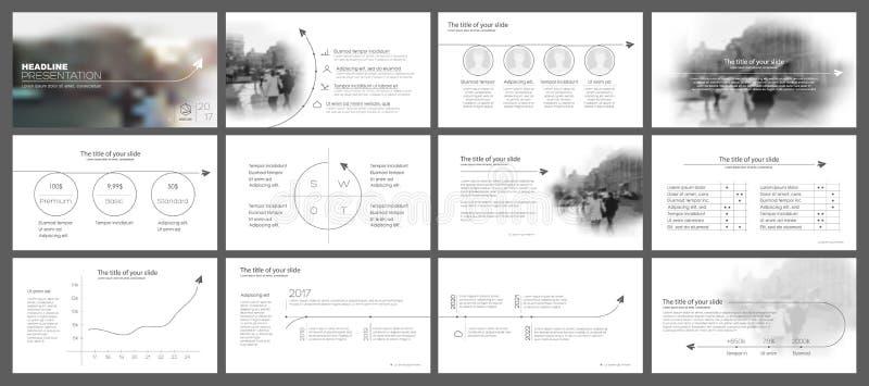 Elementos para e moldes da apresentação ilustração stock