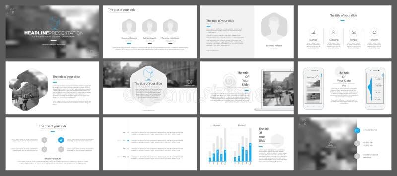 Elementos para e moldes da apresentação ilustração royalty free