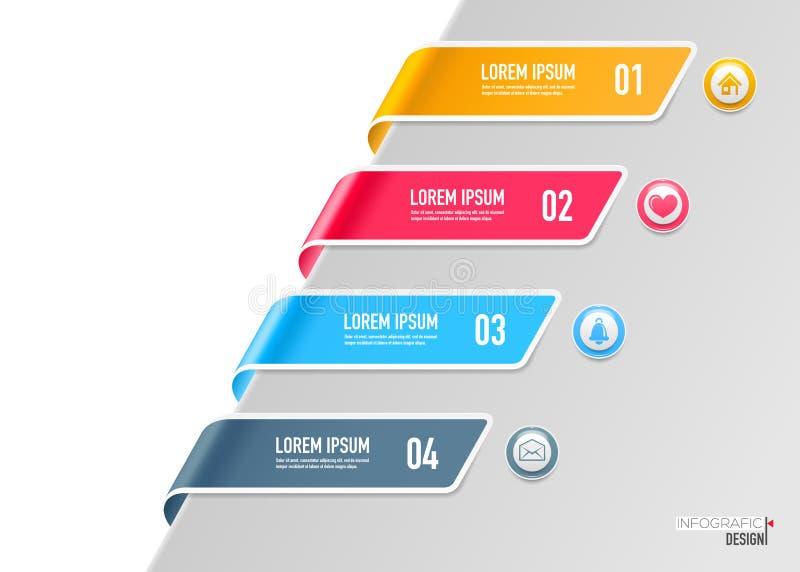 Elementos para infographic ilustração stock