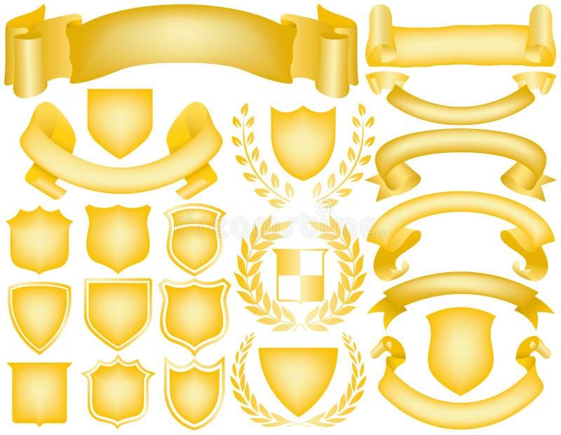 Elementos para las insignias stock de ilustración