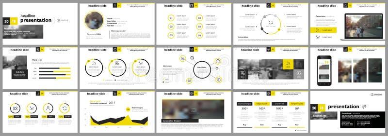 Elementos para las plantillas de la presentación stock de ilustración