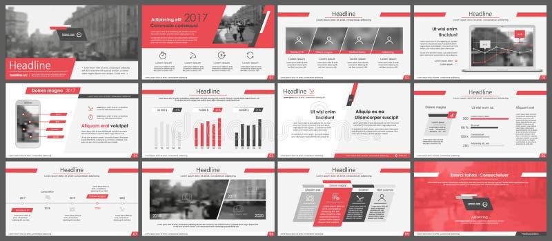 Elementos para las plantillas del infographics y de la presentación stock de ilustración