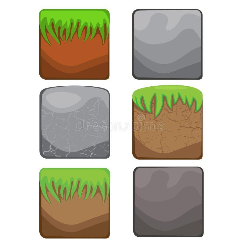 Elementos para o design web e a interface de utilizador de jogos de computador: st ilustração royalty free