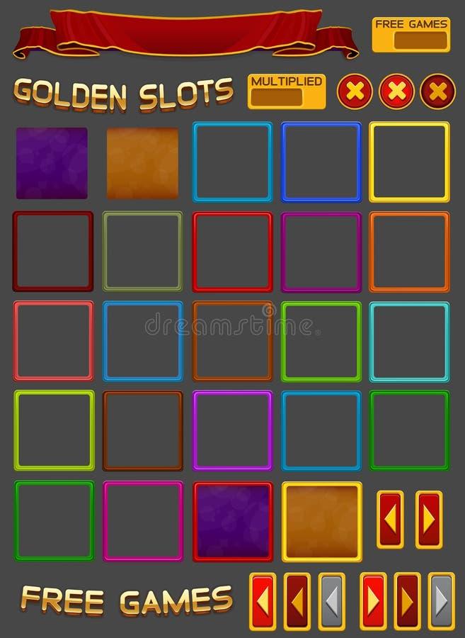 Elementos para o jogo dos entalhes ilustração royalty free