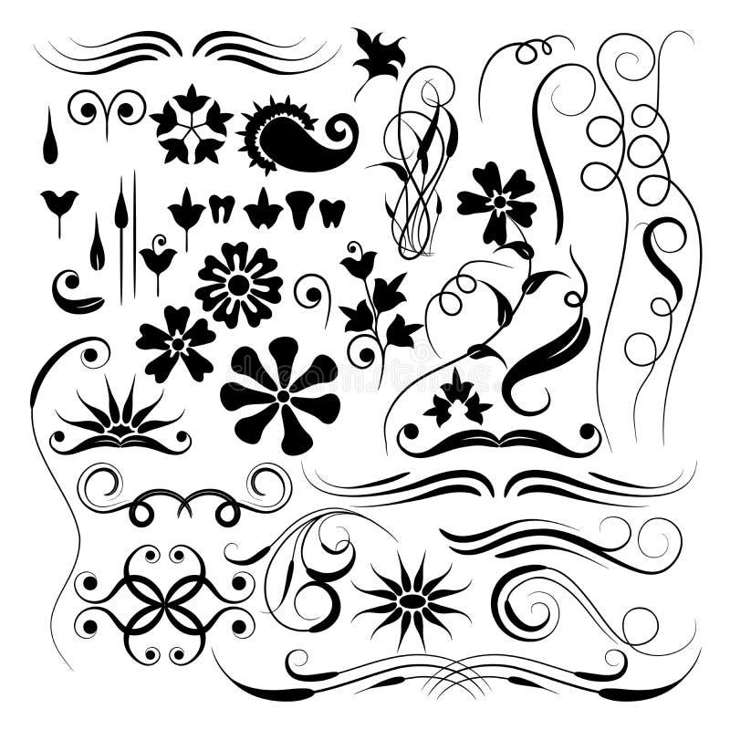Elementos para o projeto, vetor ilustração stock