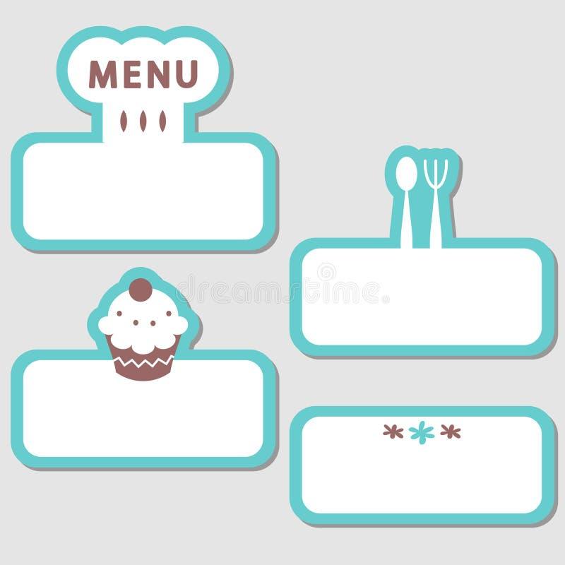 Elementos para o restaurante ilustração royalty free