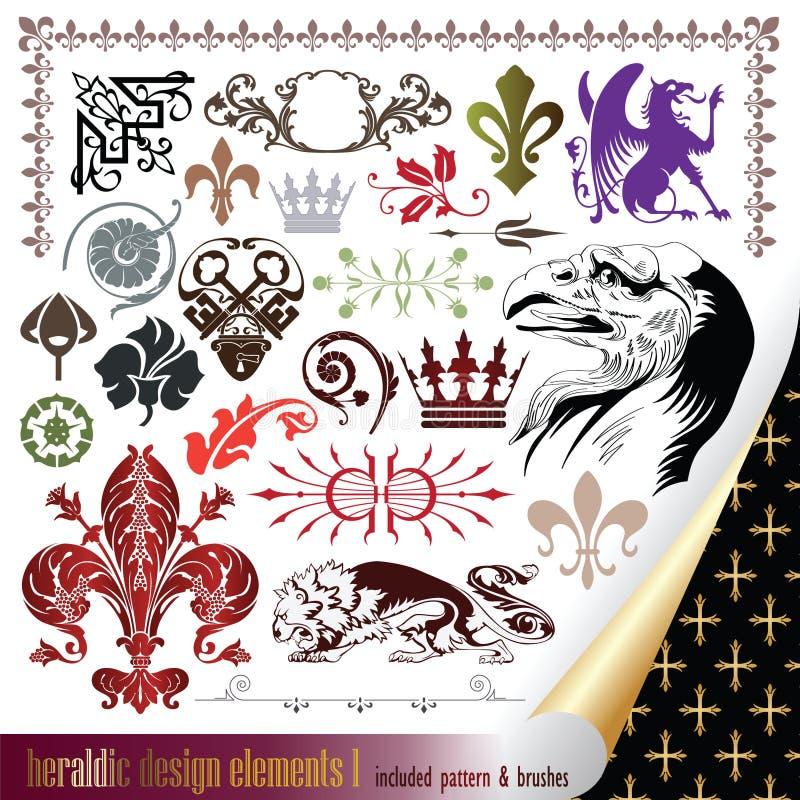 Elementos para seu projeto heráldico ilustração royalty free