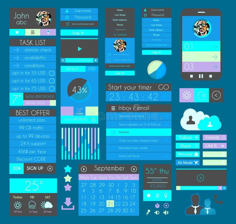 Elementos planos del diseño de UI para el web, Infographics, libre illustration