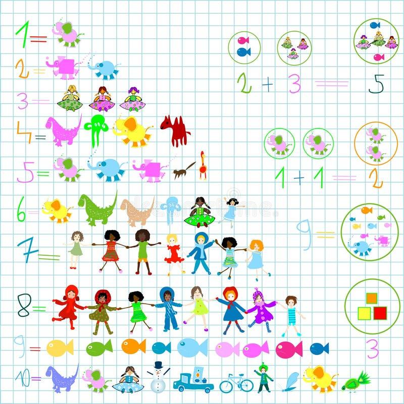 Elementos preescolares ilustración del vector