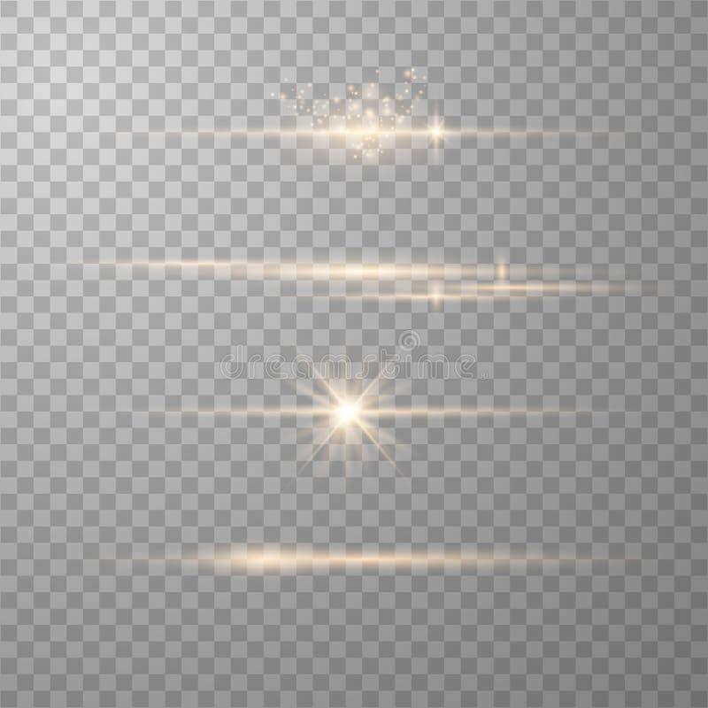 Elementos real?sticos do alargamento da lente ilustração do vetor