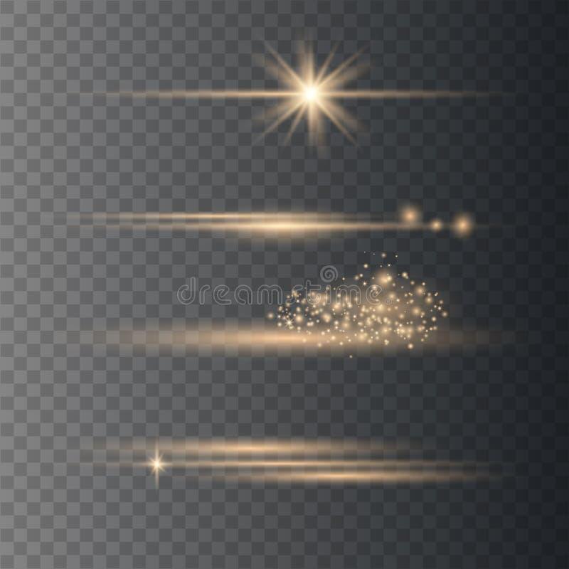Elementos real?sticos do alargamento da lente ilustração royalty free