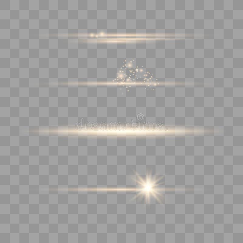 Elementos real?sticos do alargamento da lente ilustração stock