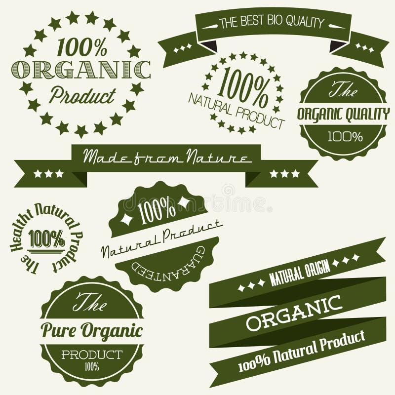 Elementos retros velhos do vintage do vetor para orgânico ilustração royalty free
