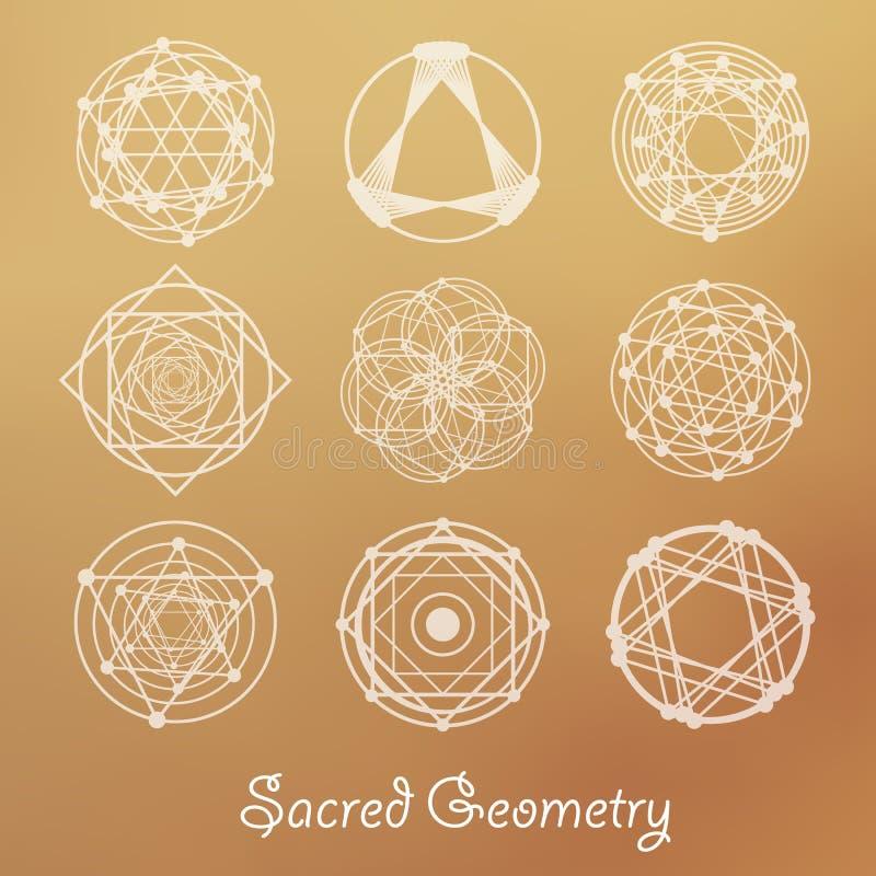 Elementos sagrados de la geometría libre illustration