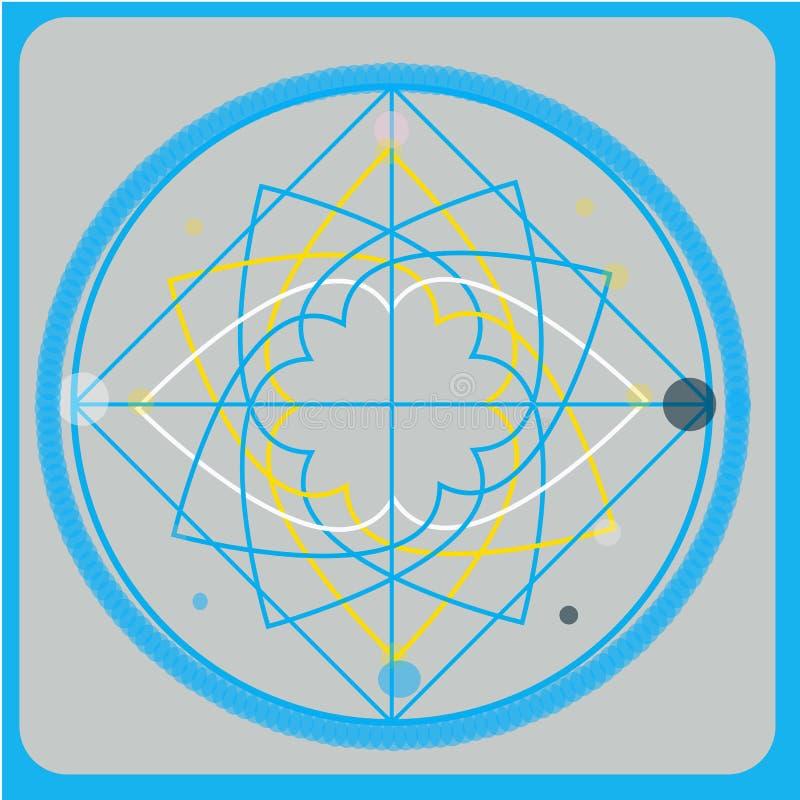 Elementos sagrados del diseño del vector de la geometría Alquimia, religión, filosofía, espiritualidad, símbolos del inconformist ilustración del vector