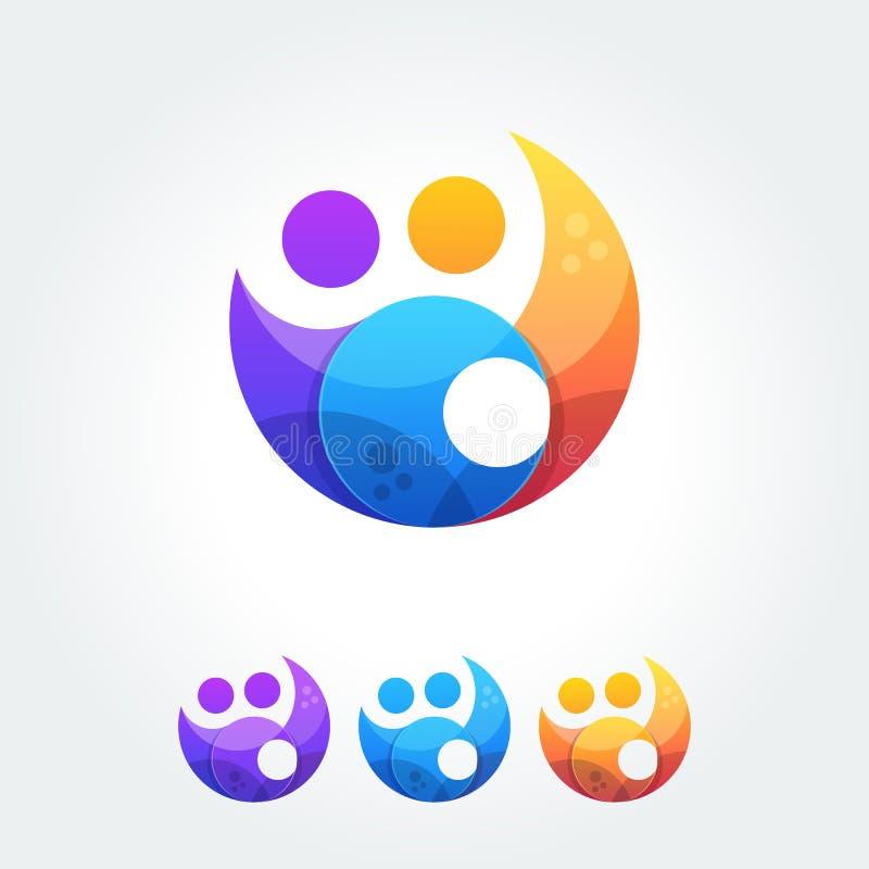 Elementos simples del icono de los amigos de la unidad de la cooperación del negocio libre illustration