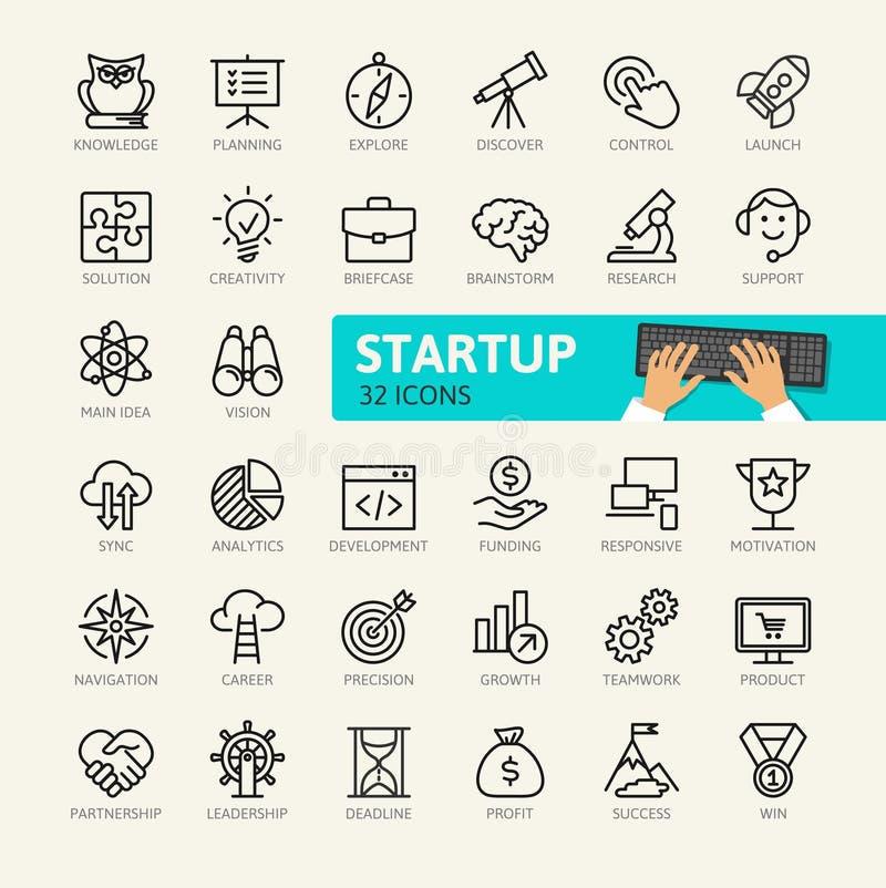 Elementos Startup do projeto e do desenvolvimento ilustração royalty free