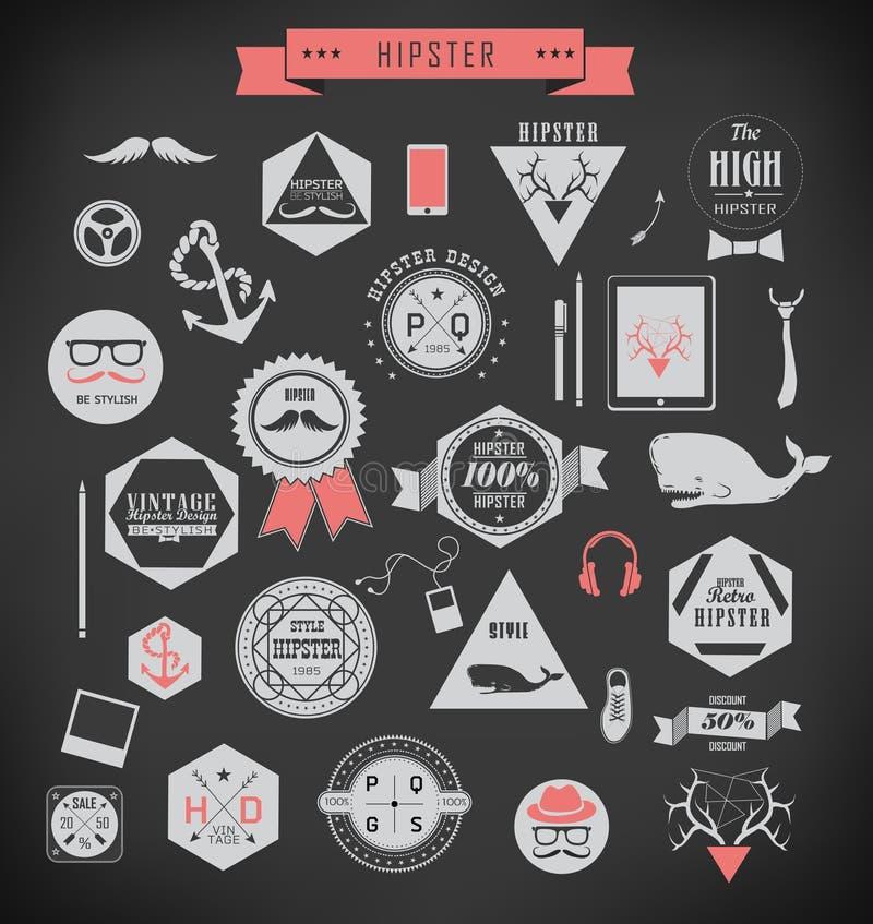 Elementos styles e iconos del inconformista libre illustration