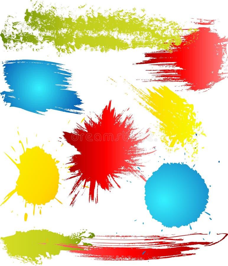 Elementos sucios del diseño libre illustration