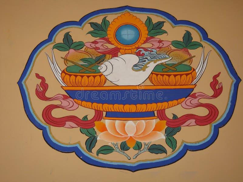 Elementos tibetanos imagenes de archivo