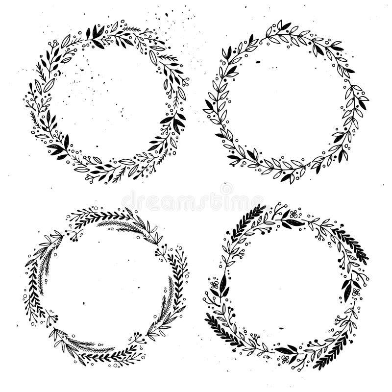 Elementos tirados mão do projeto do vetor Jogo das etiquetas ilustração royalty free