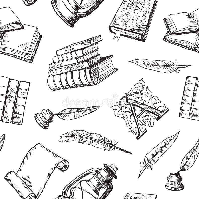 Elementos tirados mão teste padrão do teatro do vetor ou ilustração do fundo ilustração stock