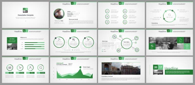 Elementos verdes del infographics para el diseño minimalista libre illustration