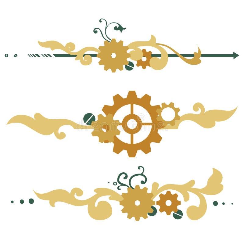 Elementos victorianos del steampunk libre illustration