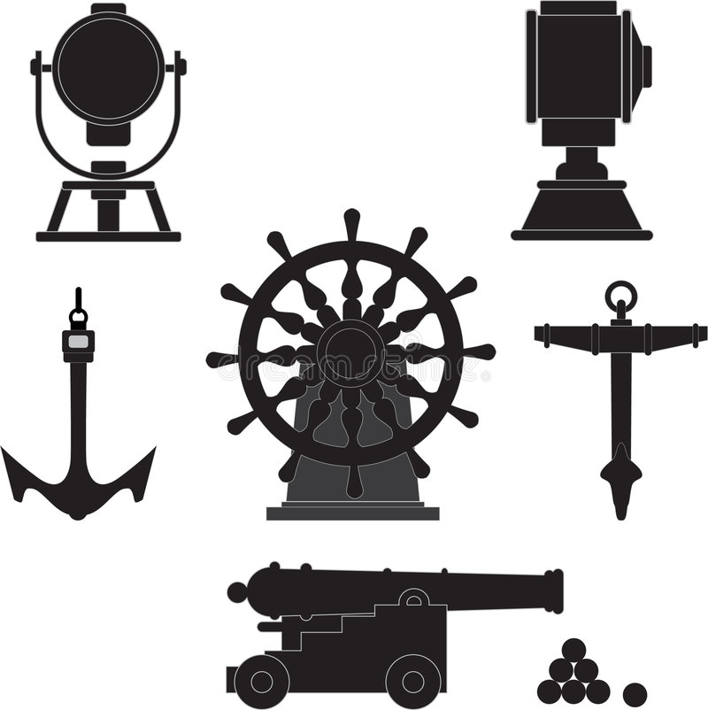 Download Elements of age-old ships stock vector. Image of ship - 8739056