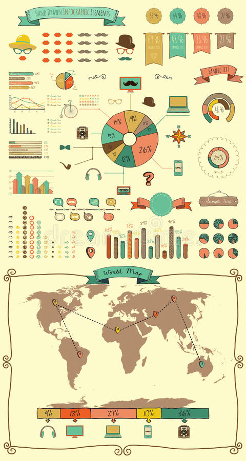 Free Elements And Icons Of Infographics Stock Image - 43309571