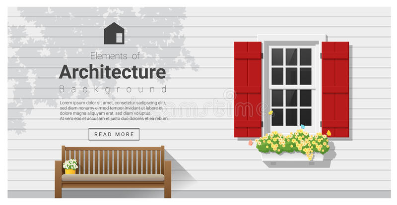 Elements of architecture , window background. Vector ,illustration stock illustration