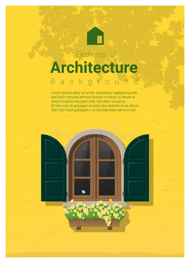 Elements of architecture , window background. Vector ,illustration vector illustration