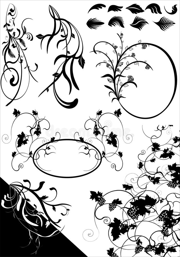 ELEMENTS.cdr FLORAL illustration stock