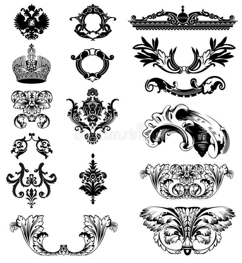 Download Elements Of Imperial Ornament Stock Vector - Image: 10574333