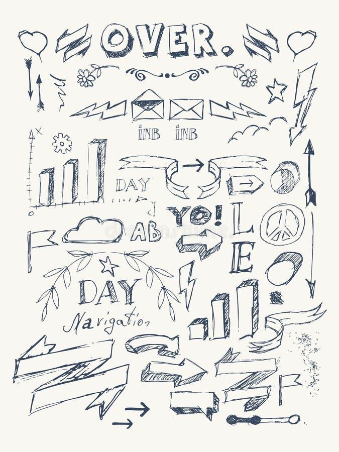 Elements of Infographics stock illustration