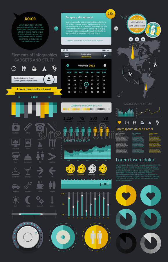 Download Elements of Infographics stock vector. Image of infographics - 22613785