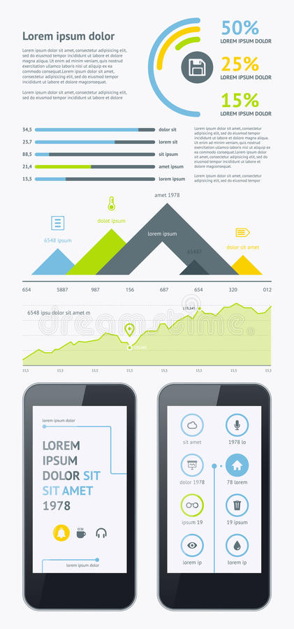 Download Elements Of Infographics With Buttons And Menus Stock Vector - Image: 31780493